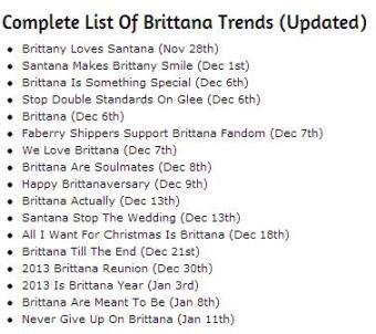 Brittana TT - 1.11.13