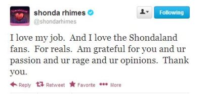 Shonda Tweet